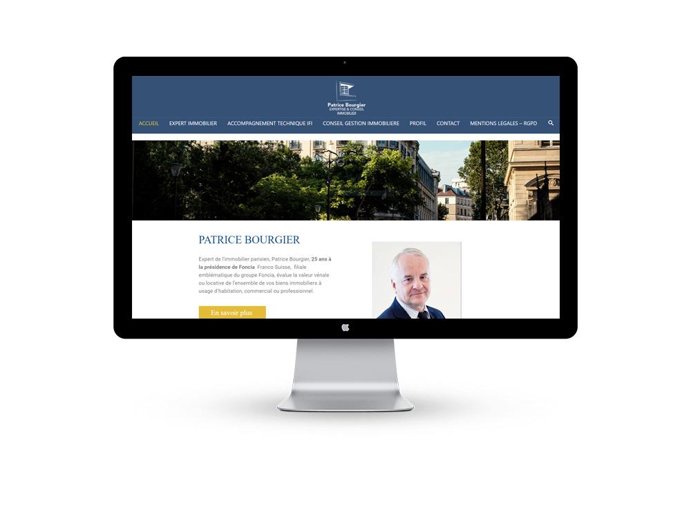 Refonte site web et référencement - Bourgier Expertise