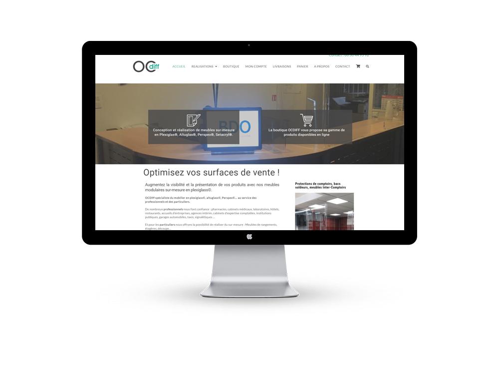 gence creation site e commerce pour OCDIFF