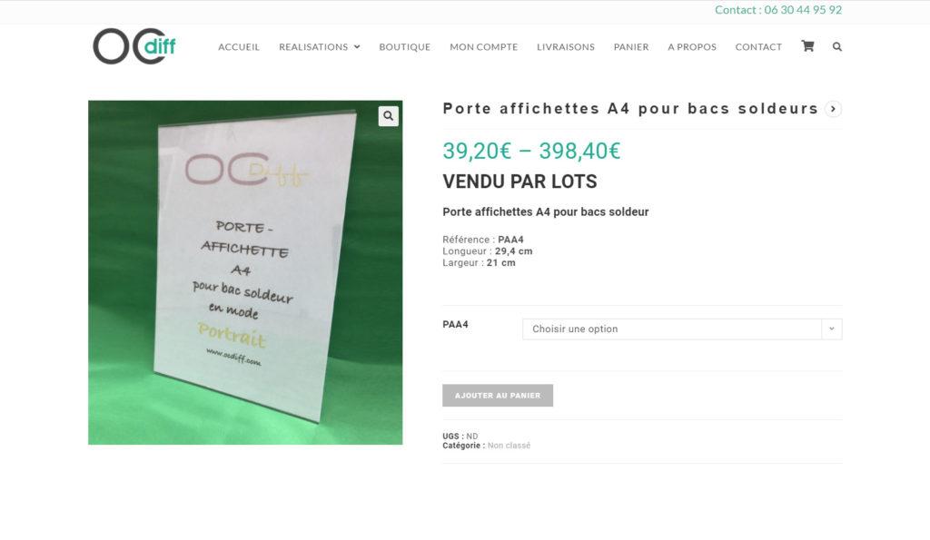 manufacture web réalise un site e commerce meubles plexiglaspour OCDIFF